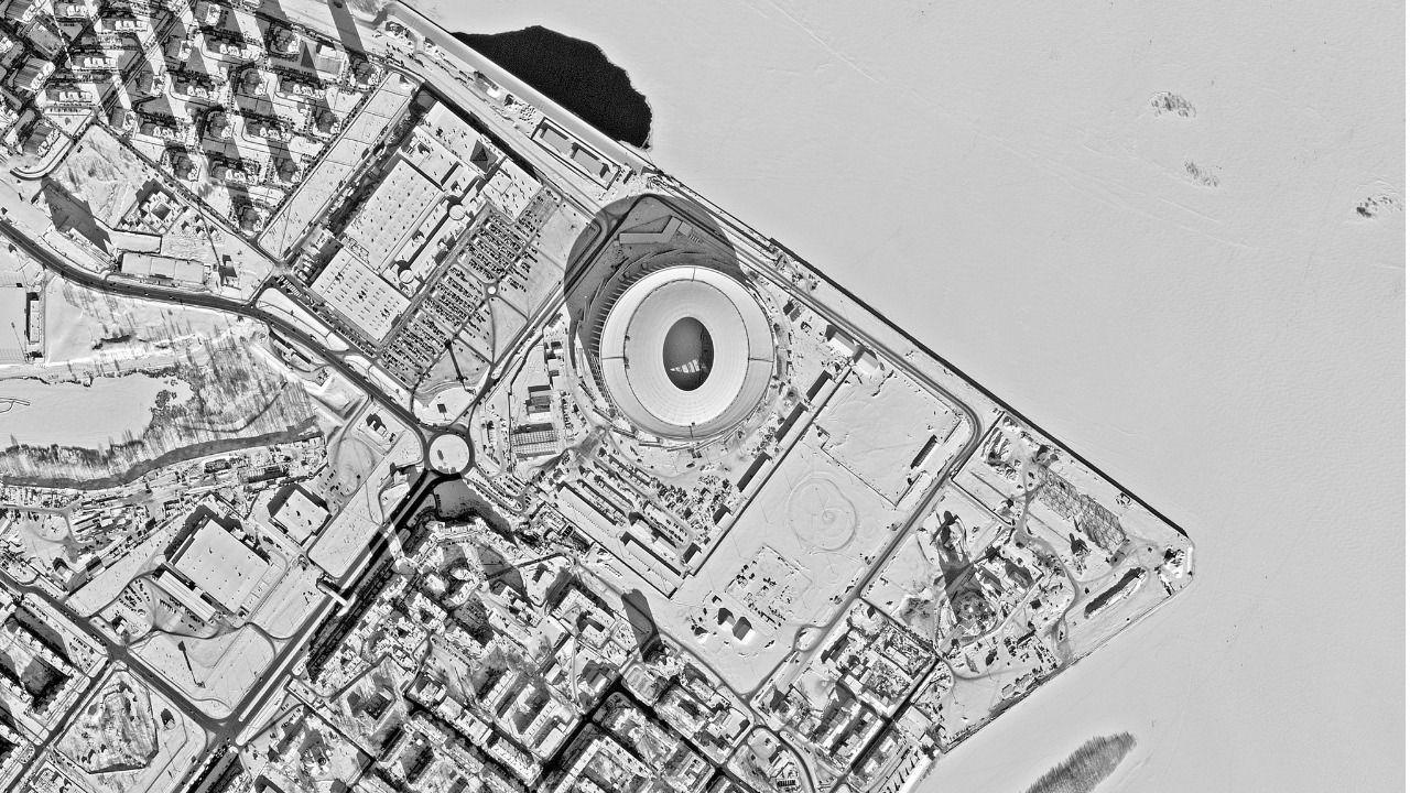 Los estadios de Rusia 2018, vistos desde el espacio