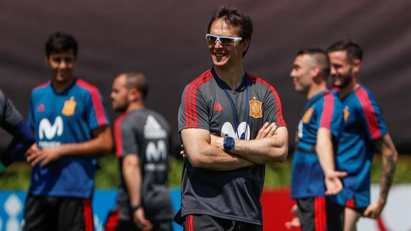 Julen Lopetegui, entrenador de la selección española de fútbol.