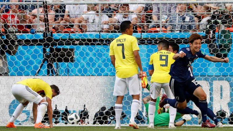 Japón saca rédito de una Colombia con diez desde el arranque |1-2