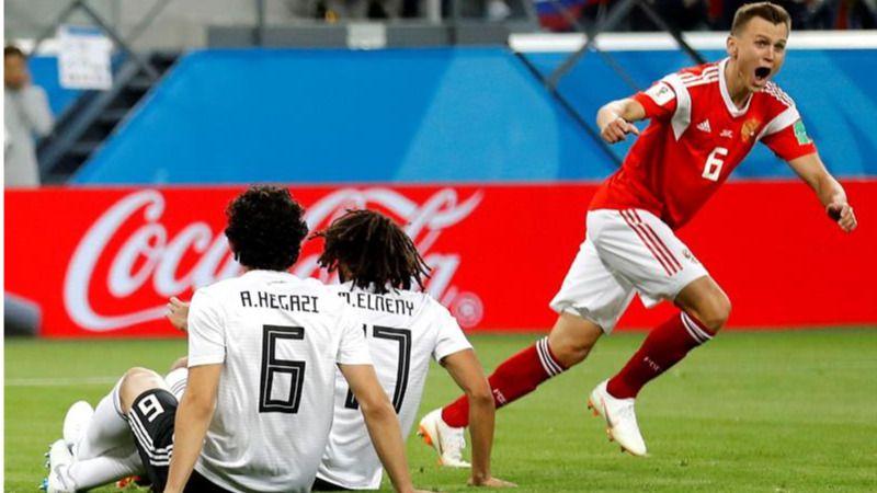 Rusia se gusta, mira a octavos y deja a Egipto al borde del ko |3-1