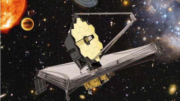 Impresión artística del telescopio James Webb
