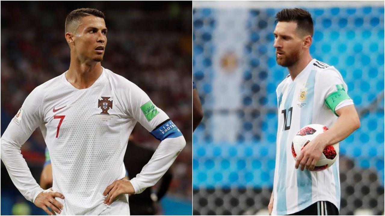 Las estrellas del fútbol mundial Messi y Cristiano, eliminados