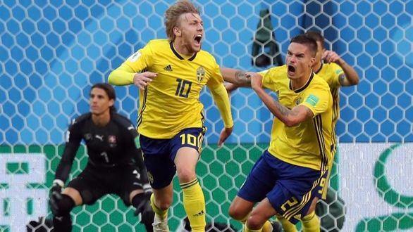 Forsberg y la defensa sueca destierran a Suiza | 1-0
