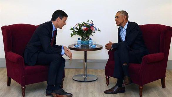 Sánchez se ve con Obama en Madrid