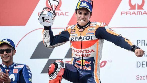 Marc Márquez domina en Sachsenring y es más líder del Mundial