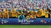 Bélgica se hizo con el tercer puesto del Mundial frente a Inglaterra.