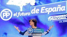Soraya Sáenz de Santamaría en el congreso del PP.