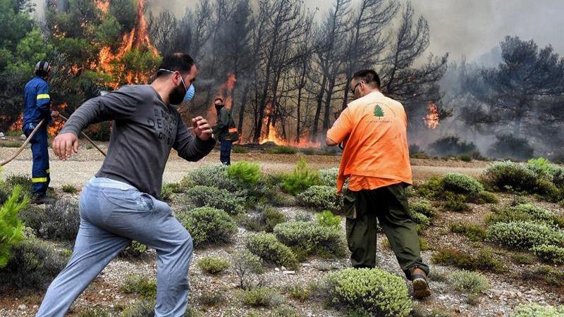 La cifra de muertos por los incendios en Grecia se eleva a 91