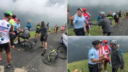 Un gendarme tira a Froome de la bicicleta al confudirlo con un aficionado