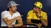 Fernando Alonso y Carlos Sáinz.