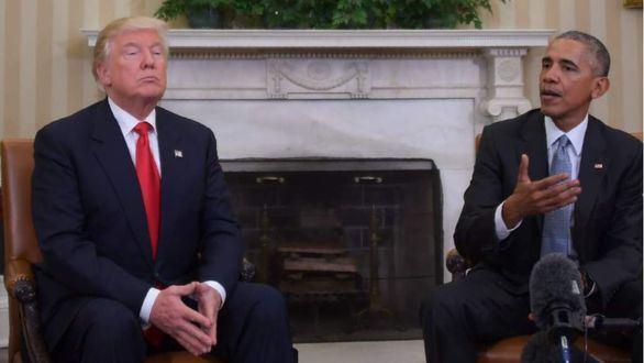 Obama rompe su silencio político y Trump asegura que
