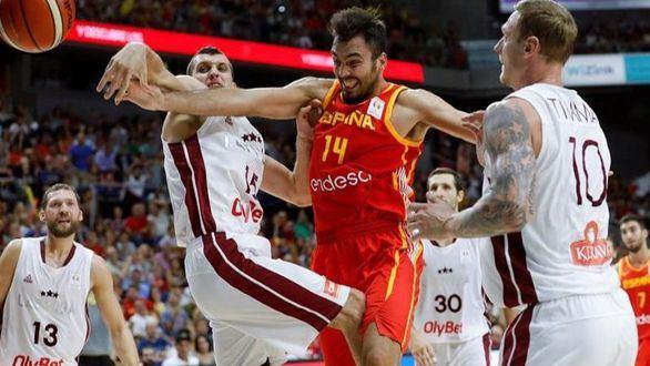 España se acerca al Mundial tras sobrevivir a Letonia   85-82