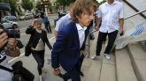 Luka Modric a su llegada al juicio celebrado en Croacia el pasado martes