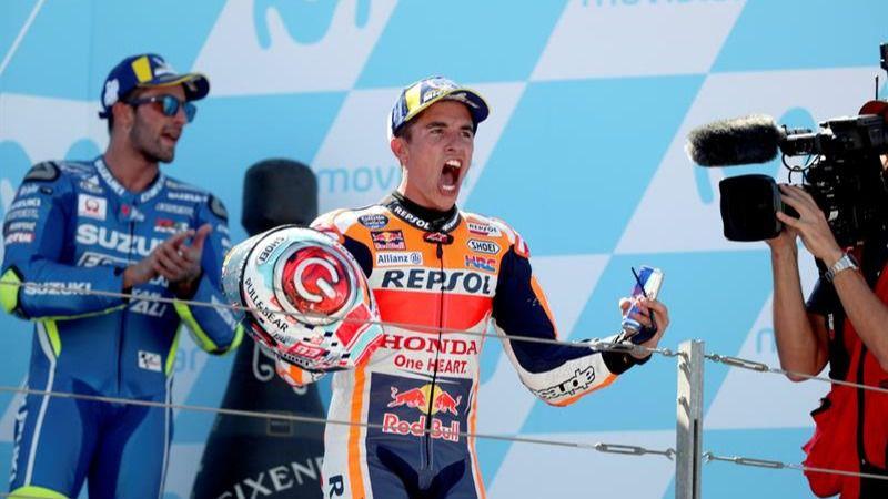 GP de Aragón. Marc Márquez gana y dispara su liderato