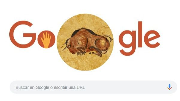 Google dedica un 'doodle' al 150 aniversario del descubrimiento de Altamira