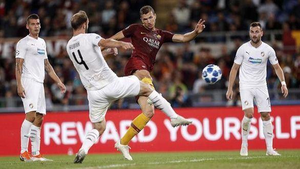 Dzeko guía a la Roma al liderato con detonación ante el Plzen   5-0