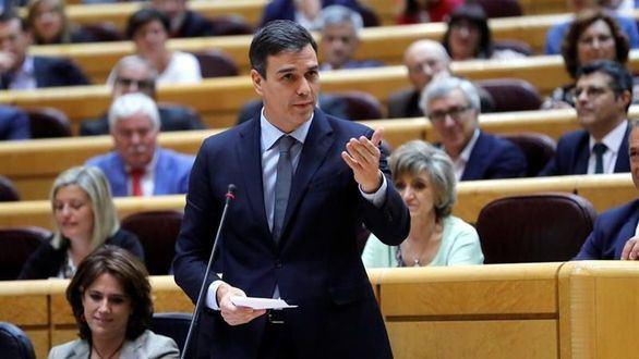 La espantada de Sánchez del Senado recrudece la pugna con PP y Cs