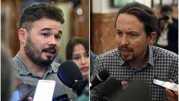 Rufián e Iglesias se enzarzan por la visita a Junqueras en la cárcel