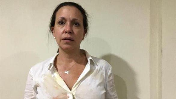 La opositora María Corina Machado sufre un ataque y culpa a Maduro