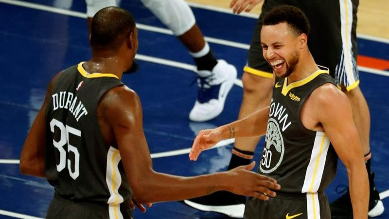 NBA. Durant y los Warriors montan una fiesta en el Madison Square Garden