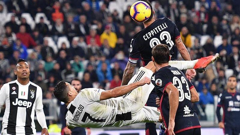 Ligas europeas. Cristiano Ronaldo manda con récord en Italia y el City ya es líder