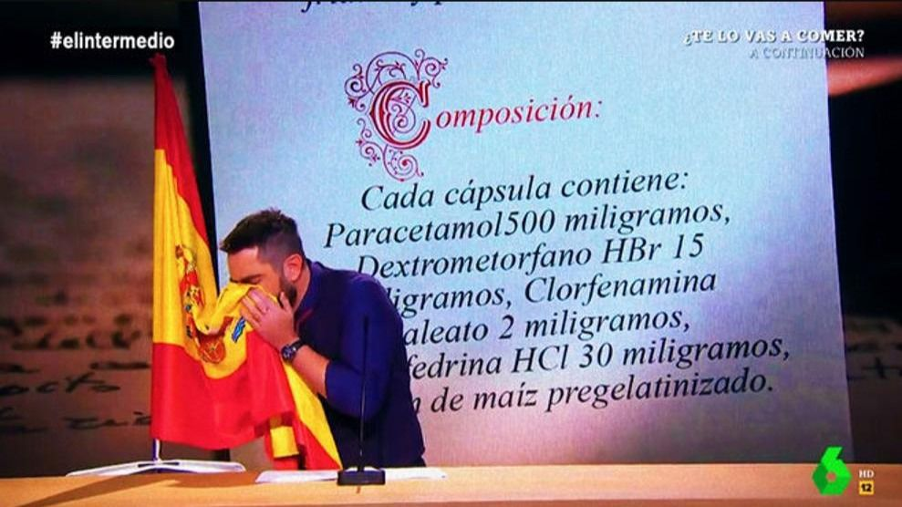 Dani Mateo se disculpa en El Intermedio por la polémica de la bandera española