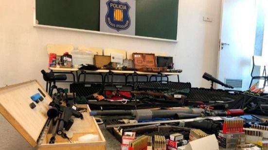 Arsenal del francotirador detenido por planear atentar contra Pedro Sánchez