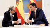 El presidente del gobierno Pedro Sánchez y el president de la Generalidad Quim Torra.
