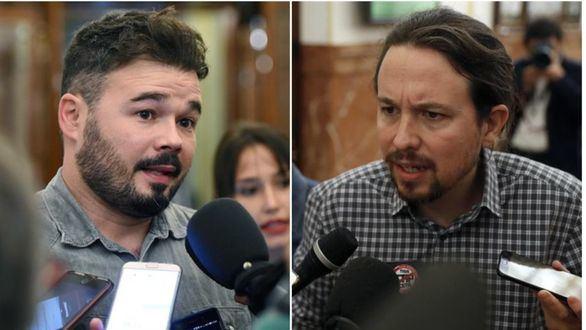 Rufián a Podemos: ¿Apoyaría los presupuestos con Iglesias en la cárcel y Montero en el exilio?