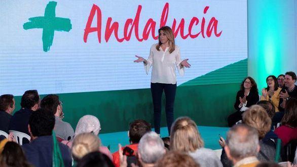 El PSOE suspende el mitin de Susana Díaz por la protesta violenta de taxistas