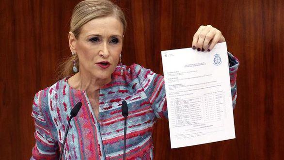 La jueza procesa a Cifuentes por su máster de la URJC