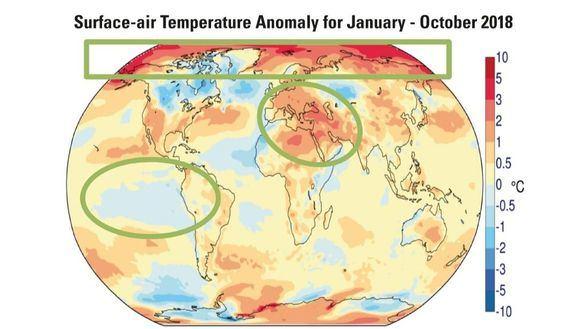 2018 ha sido el cuarto año más caliente desde que existen datos
