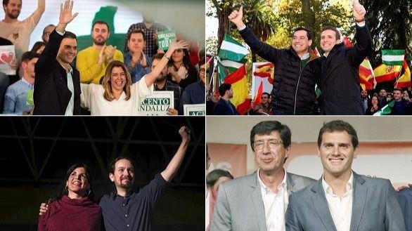Las elecciones en Andalucía, primer asalto para las generales