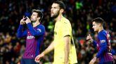 Piqué evita ante el Villarreal otro pinchazo del Barcelona | 2-0