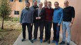 De izquierda a derecha: Jordi Sànchez, Oriol Junqueras, Jordi Turull, Joaquim Forn, Jordi Cuixart, Josep Rull y Raül Romeva.