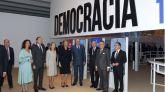 Los Reyes inauguran la exposición 'Democracia 1978-2018' organizada por la Obra Social 'la Caixa'