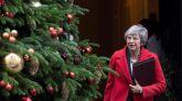 La primera ministra británica, Theresa May, tras la reunión de Consejo de ministros en el 10 de Downing Street, en Londres, Reino Unido este 4 de diciembre de 2018.