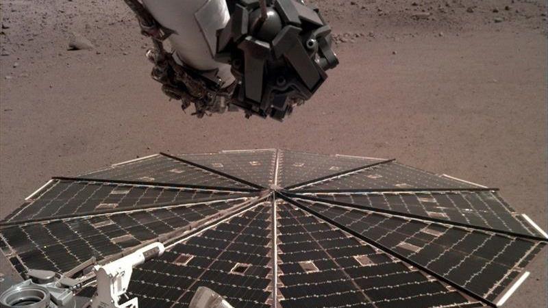 La sonda InSight de la NASA graba el sonido del viento en Marte