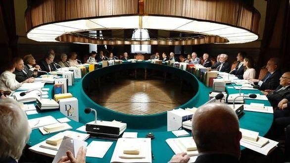 Foto de archivo del pleno de la Real Academia Española
