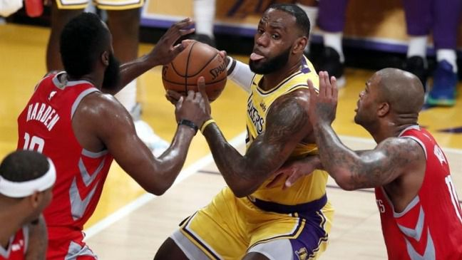 NBA. James Harden pone en su sitio a los Lakers de LeBron James