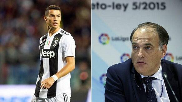 Tebas, imputado por alzamiento de bienes y el juicio a Ronaldo será en enero
