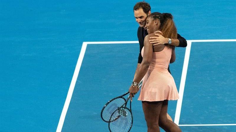 Copa Hopman. Federer y Serena Williams disfrutan en el triunfo suizo