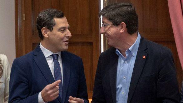 Primeros acuerdos en Andalucía: PP, Presidencia y Hacienda; Cs, Vicepresidencia y Economía