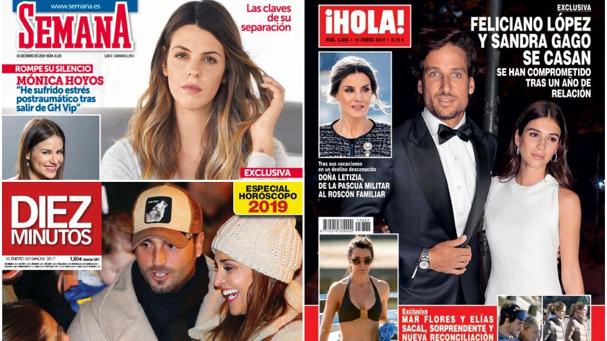 Feliciano López se casa y Laura Matamoros rompe con el padre de su hijo