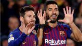 Suárez se suma a la fiesta goleadora de Messi |3-0