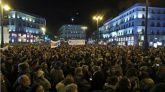 Protestas contra Vox por el 'mercadeo' de derechos de las mujeres