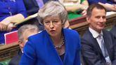 Theresa May durante su intervención en el debate de este miércoles.