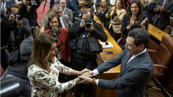 El PP, con Cs, gobierna en Andalucía tras 36 años de régimen socialista