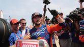 El australiano Toby Price, tras ganar el primer lugar en el Rally Dakar 2019.