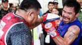 Boxeo. Pacquiao defiende su cinturón de peso welter y grita revancha a Mayweather